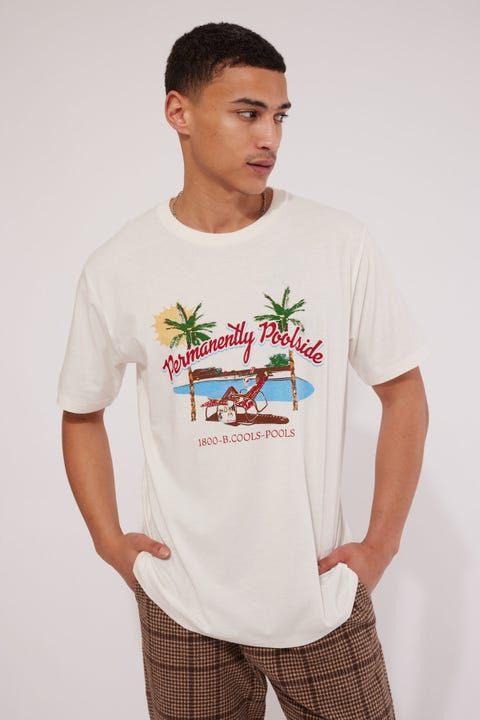 Barney Cools Permanent Tee Vintage White