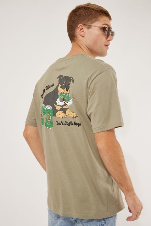 Barney Cools Don't Dog Tee Sage
