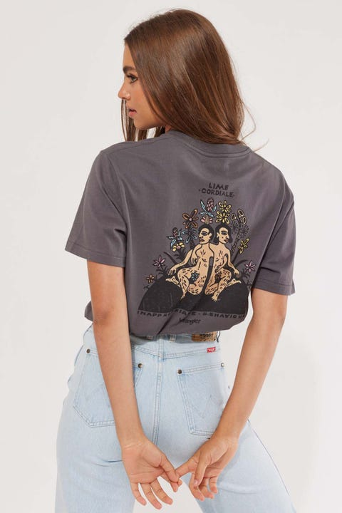 Wrangler x Lime Cordiale Inappropriate Tee Slate