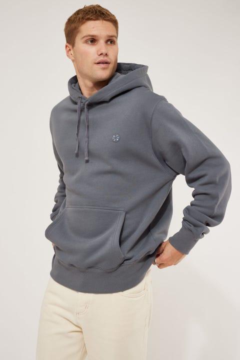 Barney Cools Badge Hood Fleece Ocean