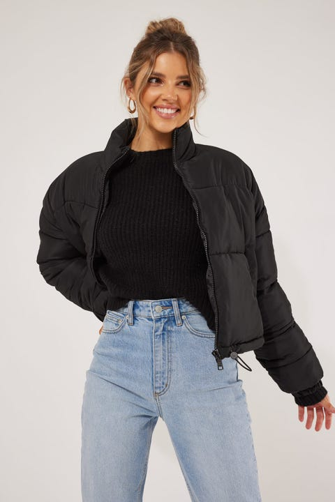Luck & Trouble Lindsay Puffer Jacket Black