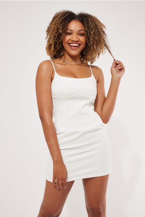 Perfect Stranger Treat Yourself Mini Dress White