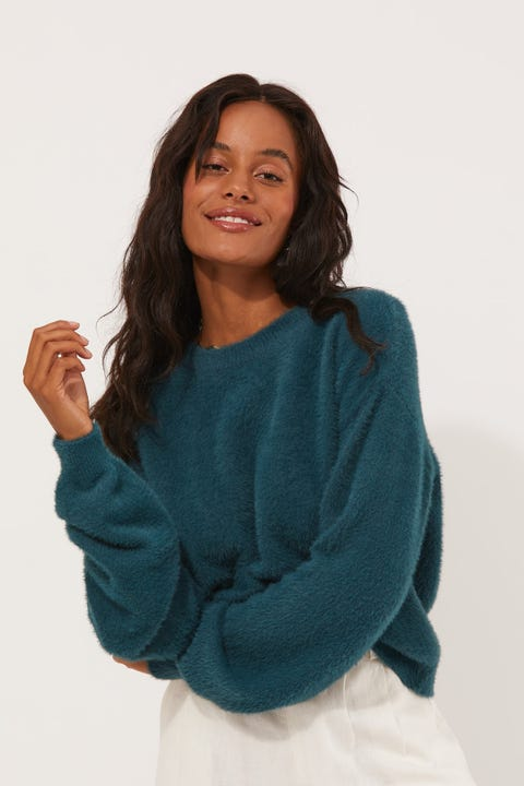 Luck & Trouble Long Song Knit Teal