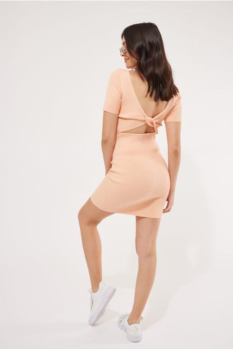 Perfect Stranger Emma Two-Way Mini Dress Melon