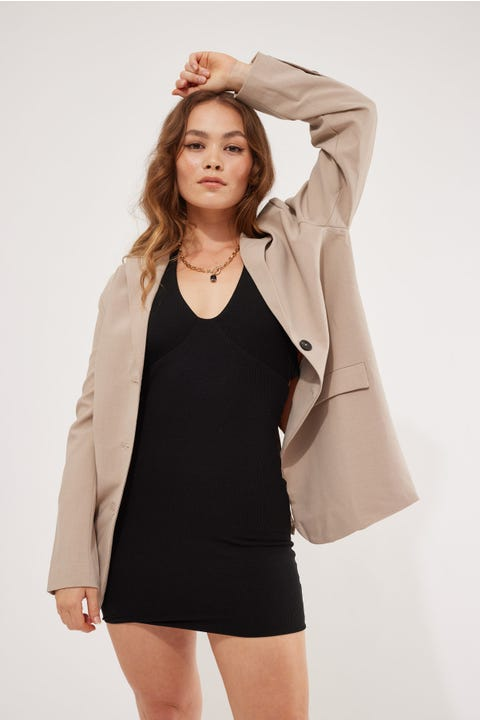 Perfect Stranger Arizona Oversized Blazer Taupe