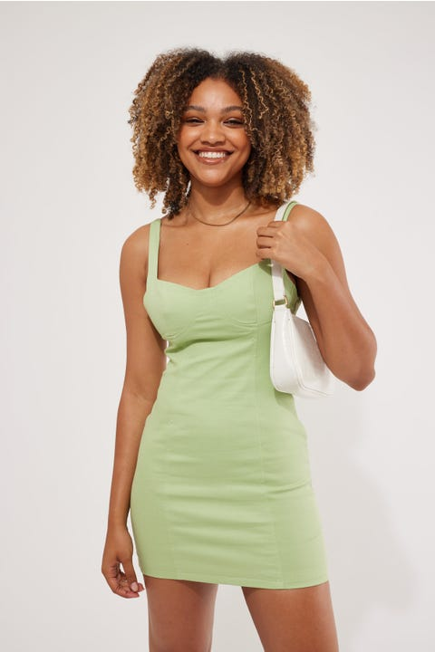 Perfect Stranger City Of Lights Mini Dress Green
