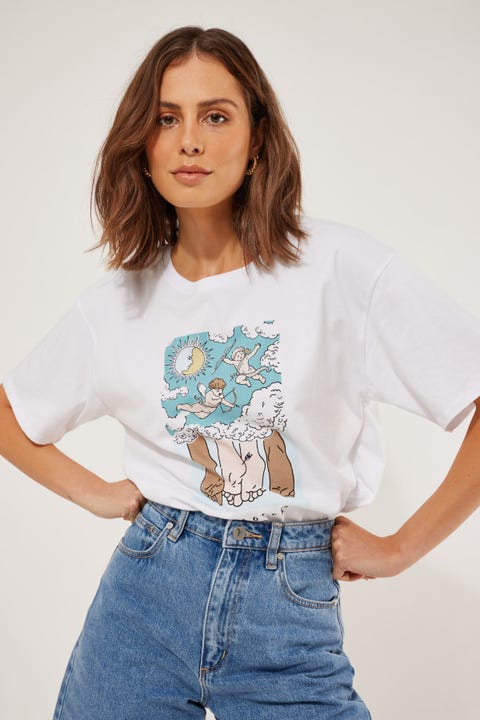 Cools Club Lovers Sunday Tee White
