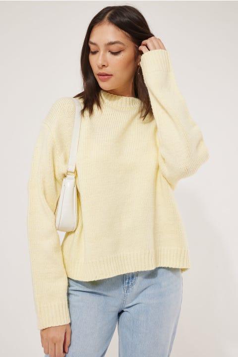 Luck & Trouble Ebony Chunky Knit Yellow