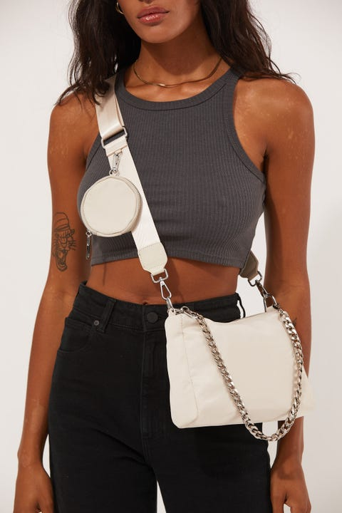Token Lou Crossbody Bag Nude