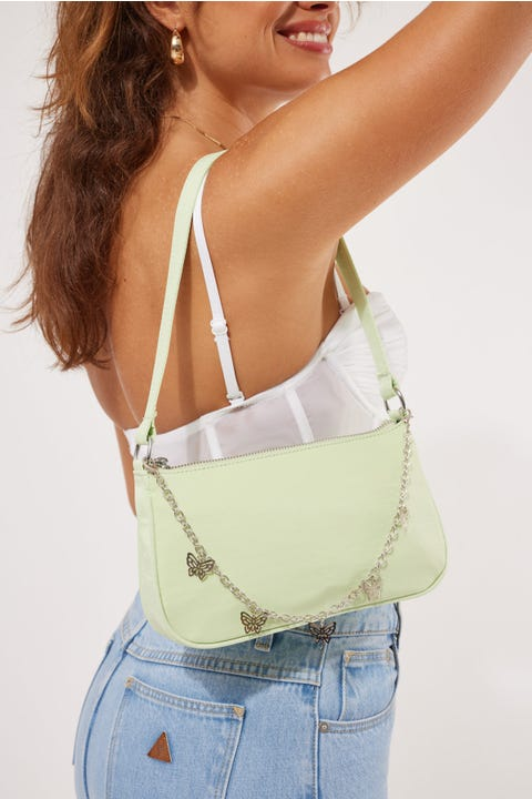 Token Butterfly Shoulder Bag Pistachio