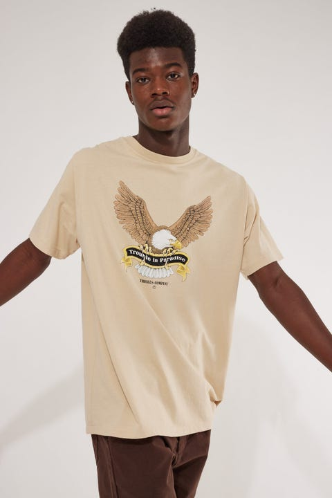 Thrills Troubled Paradise Merch Fit Tee Thrift White