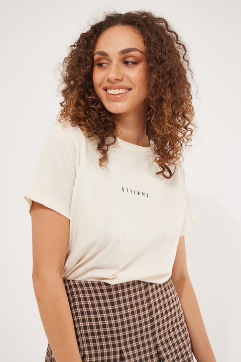 Thrills Minimal Thrills Relaxed Tee Unbleached