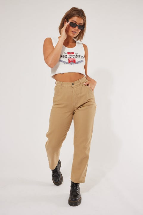 Thrills Carpenter Pant Washed Tan