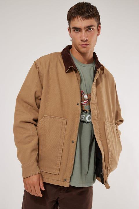 Thrills Carpenter Jacket Washed Tan
