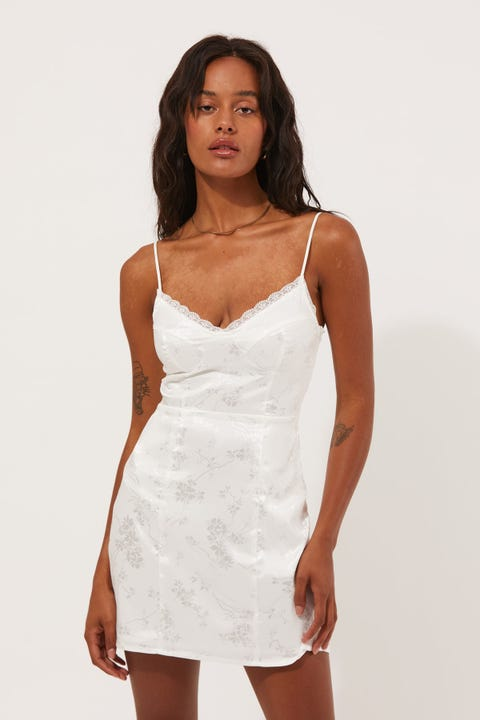 Luck & Trouble Bare With Me Dress White