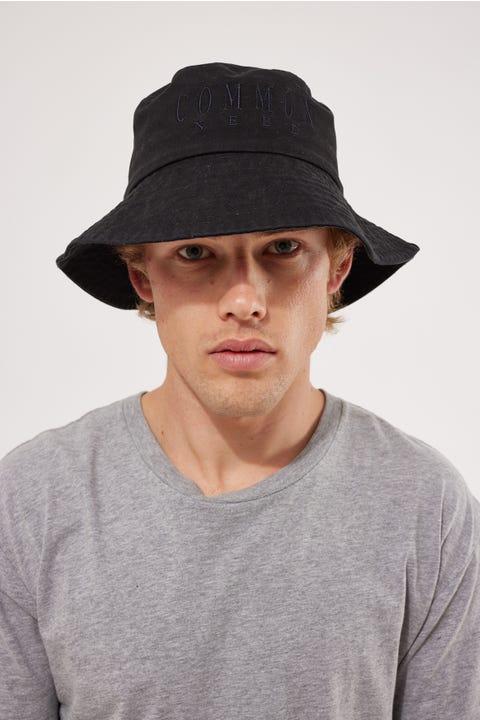 Common Need Sense Bucket Hat Washed Black