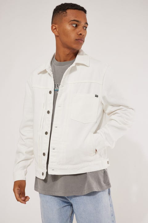 Thrills Ryder Oversized Denim Jacket Optic White