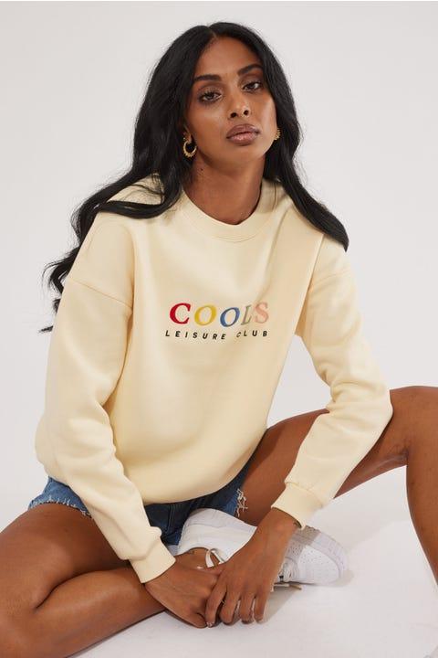 Cools Club Leisure Club Sweatshirt Lemon