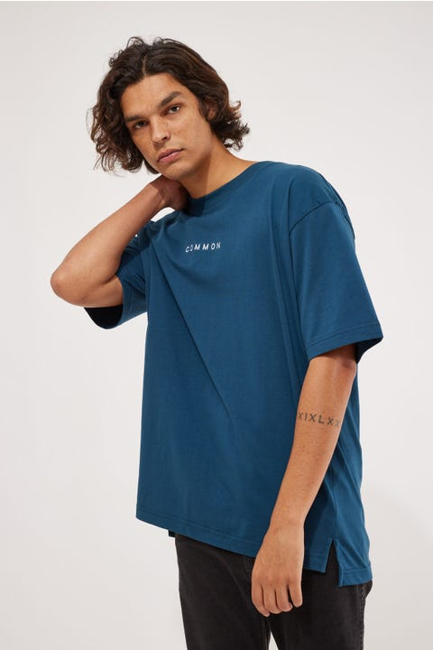 Common Need Organic Cotton Boxy Tee Oil Blue