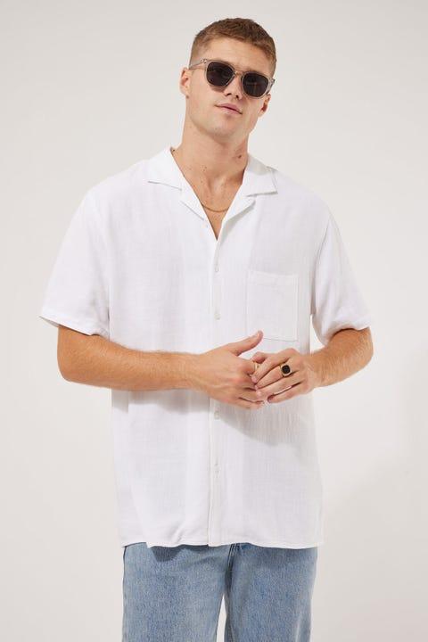 Common Need Truth Resort Collar Shirt White