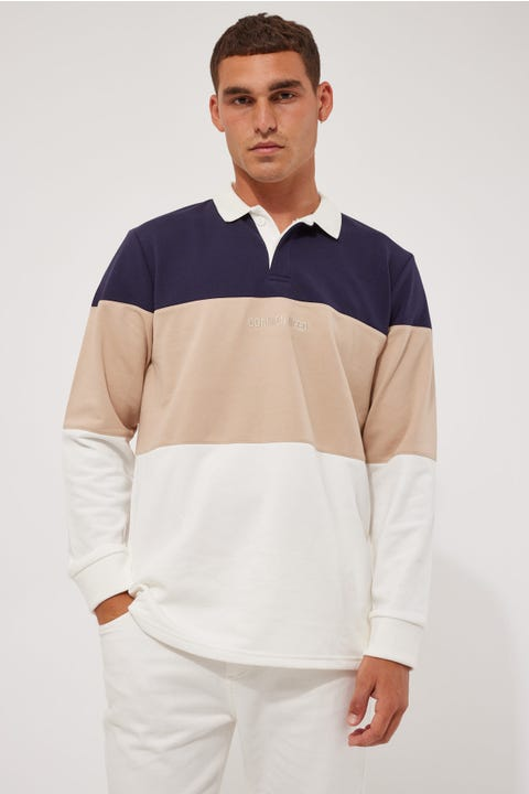 Common Need Minimal Warrior Rugby Navy/Taupe/White