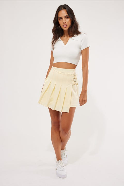 Luck & Trouble Field Trip Mini Skirt Yellow
