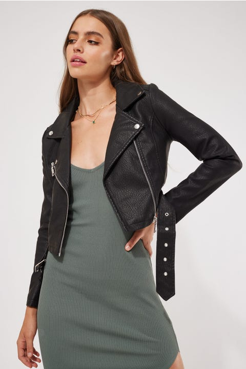 Perfect Stranger Nailed It Biker Jacket Black