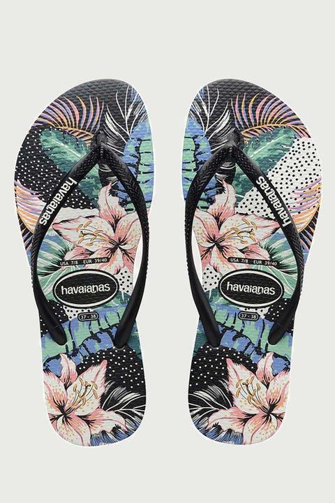 Havaianas Slim Floral Dots Black