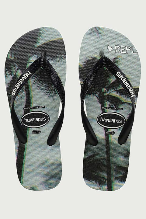 Havaianas Photoprint (Palms) Black/Black/Steel Grey
