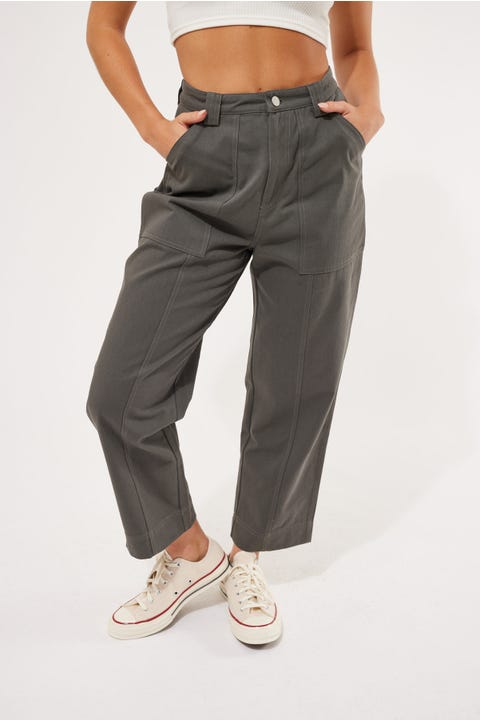 Luck & Trouble Lose Me Cargo Pant Charcoal