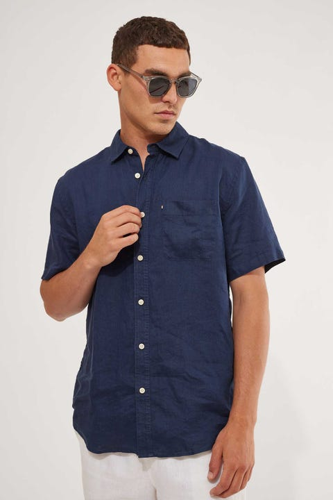 Academy Brand Hampton SS Shirt Navy