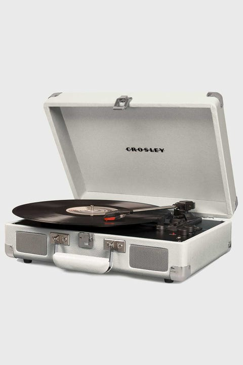 Crosley Cruiser Deluxe Portable Turntable White Sand