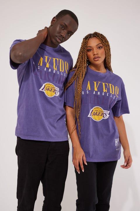 Mitchell & Ness Lakers Woodmark SS Tee Purple