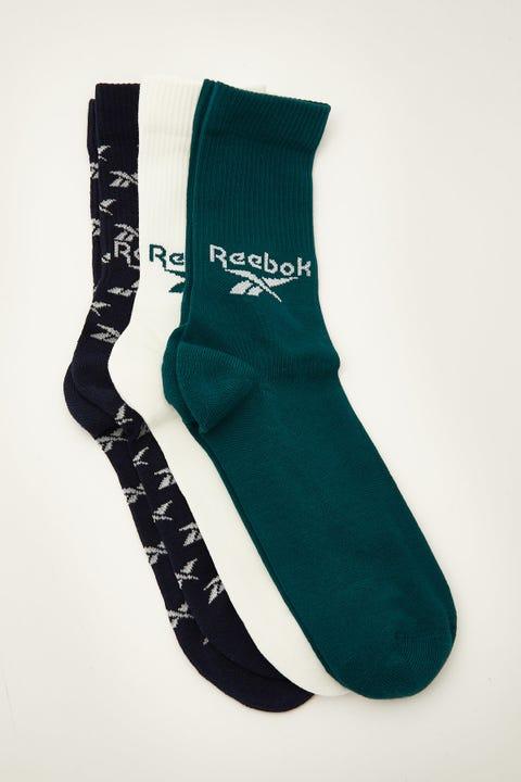 Reebok CL FO Crew Sock 3 Pack Midnight Pine