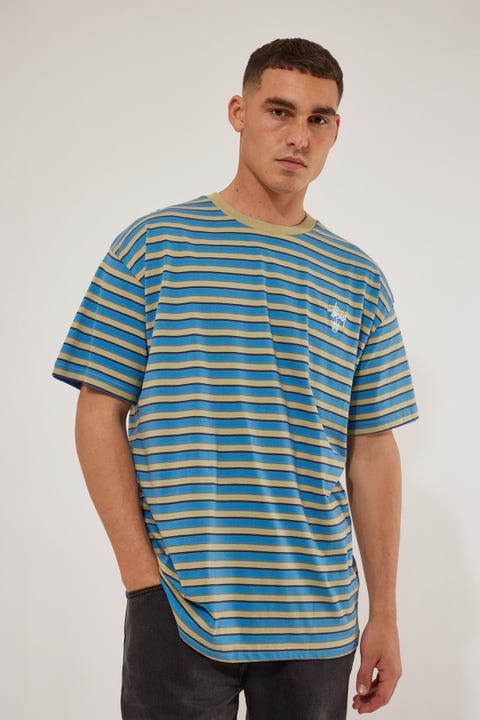 Stussy Morning Stripe SS Tee Airforce Blue