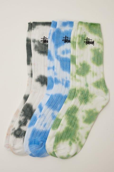 Stussy Rib Tie Dye Sock 3 Pack