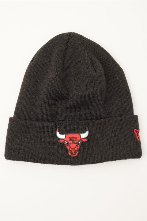 New Era 6Dart Knit Chicago Bulls Beanie Black/Red