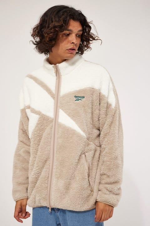 Reebok CL F Vector Sherpa Jacket Beige