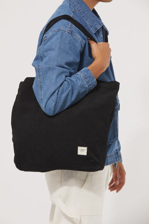 Common Need Cord Tote Bag Black