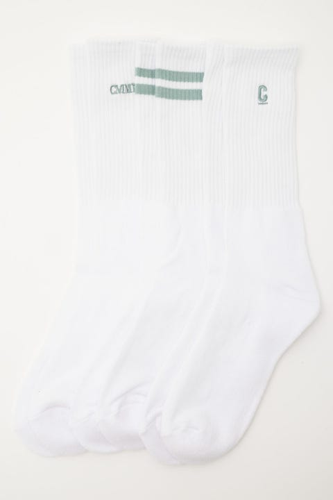 Common Need Classics Sock 3 Pack White/Mineral Blue