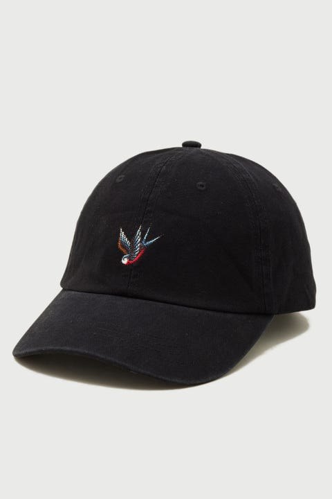 Common Need Swallow Embro Cap Washed Black