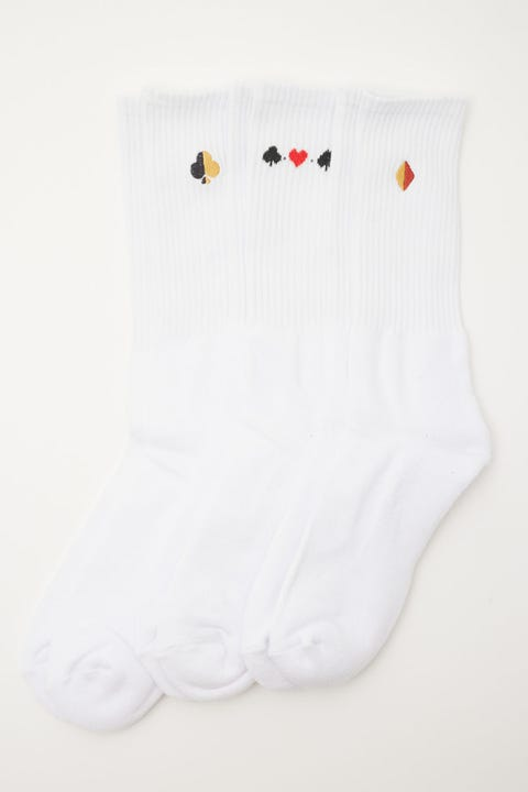 Common Need Suits Sock 3 Pack White