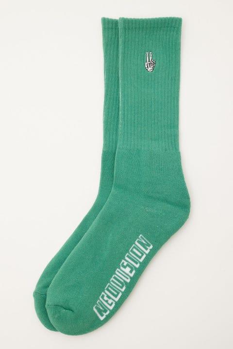 Neovision Skeleton Peace Sock Green