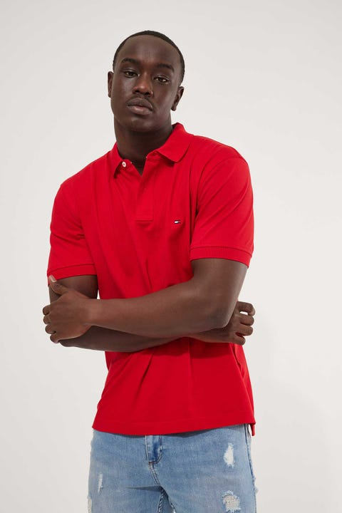 Tommy Jeans Tommy Regular Polo Shirt Red