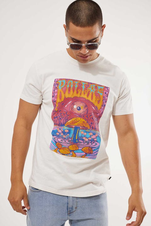 Rolla's Old Mate Shroom Tee White