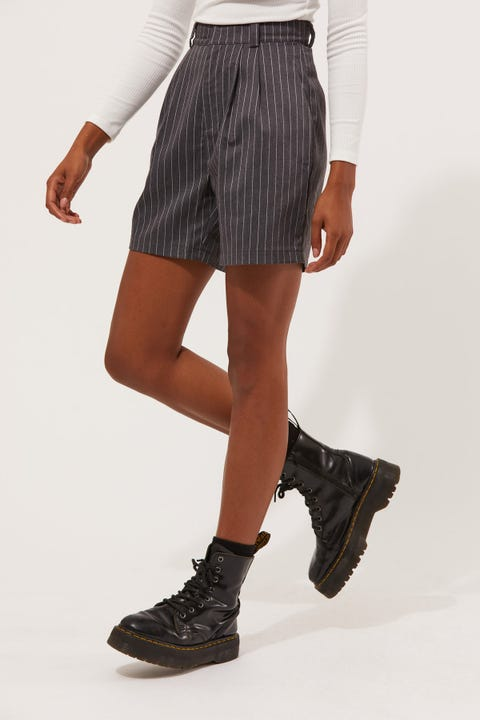Perfect Stranger Hold On Short Charcoal Pinstripe