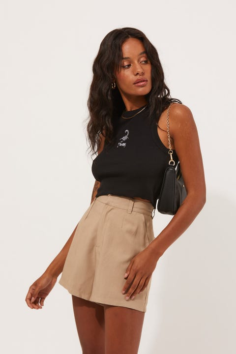 Perfect Stranger Paris Short Taupe
