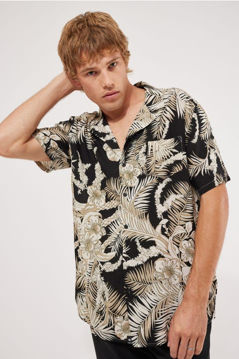 St Goliath Night Leaf SS Shirt Multicoloured