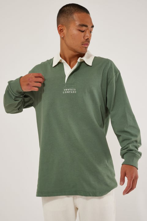 Thrills Far East Rugby Polo Lume Green