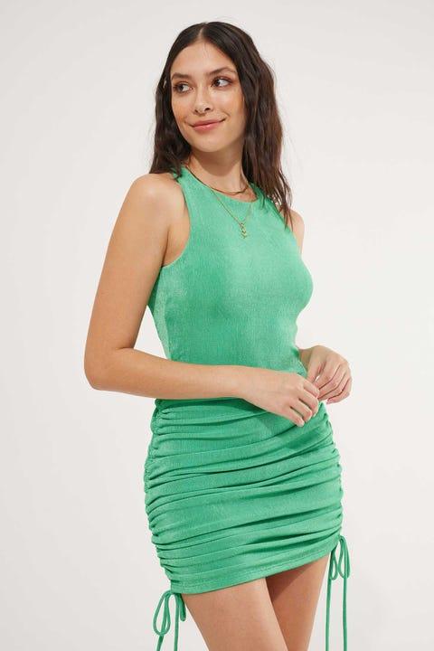 BY.DYLN Charlotte Dress Green